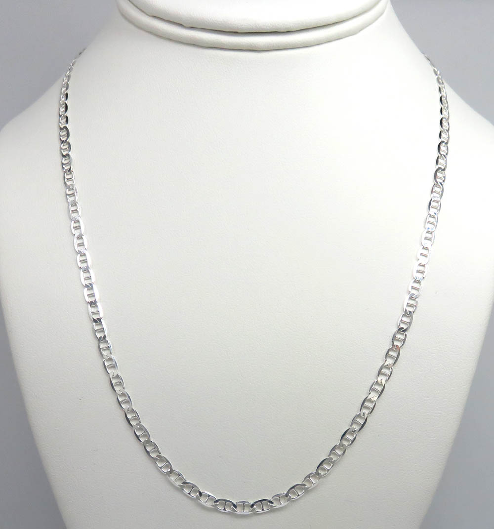 925 sterling silver anchor link chain 20 inch 3.30mm