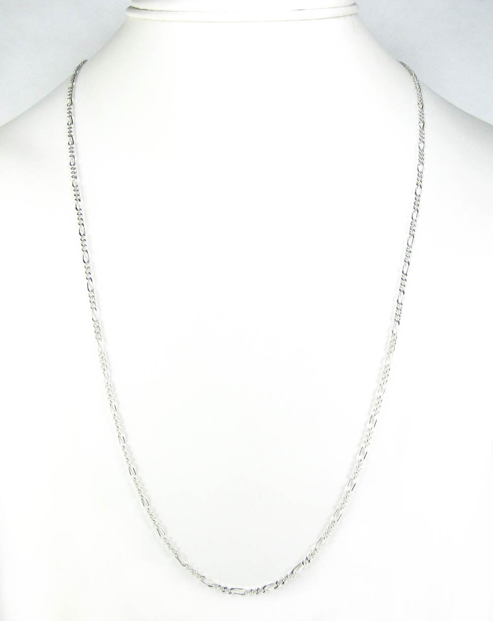 925 sterling silver figaro link chain 20-26 inch 2.10mm