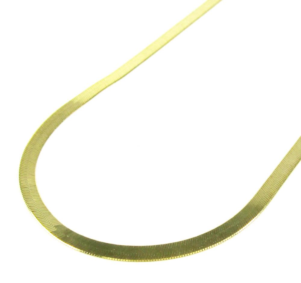 10k yellow gold herringbone chain 22-24 inch 2.85mm