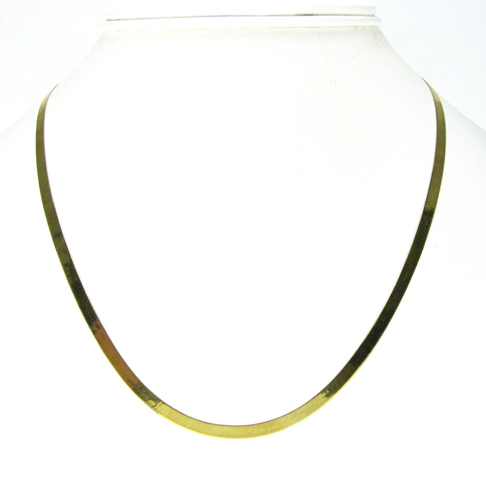 10k yellow gold herringbone chain 18-22 inch 3.50mm