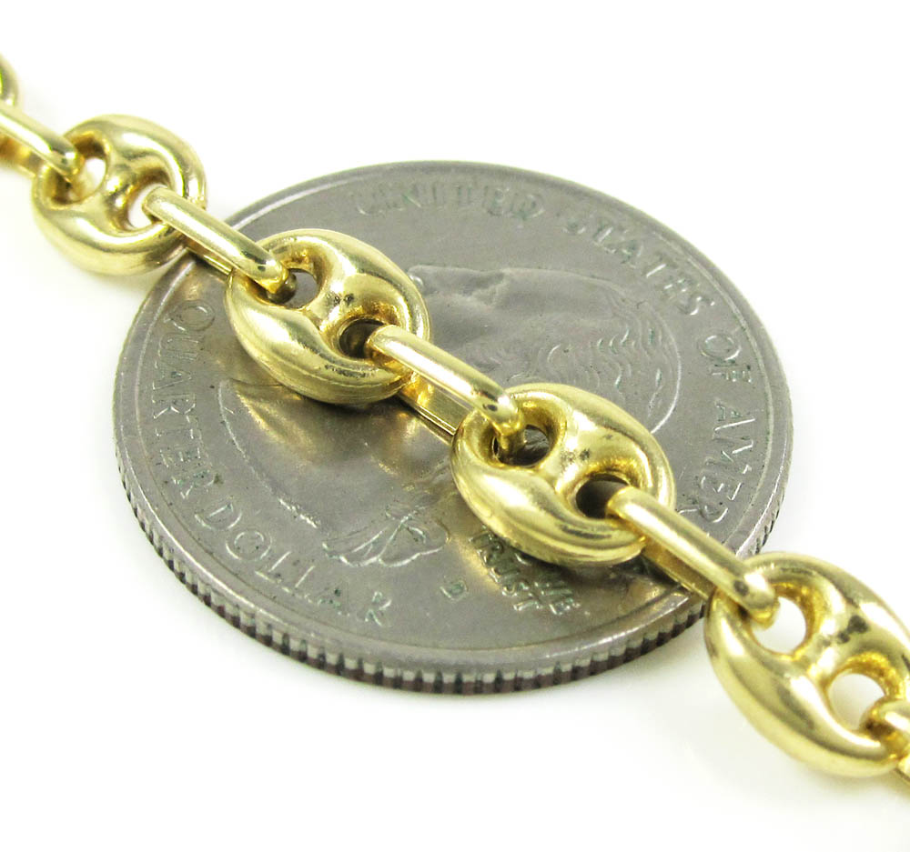 14k yellow gold gucci link chain 30 inch 6.30mm