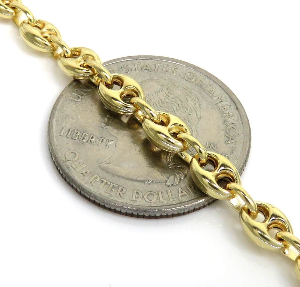 14k yellow gold gucci link chain 30 inch 4.80mm