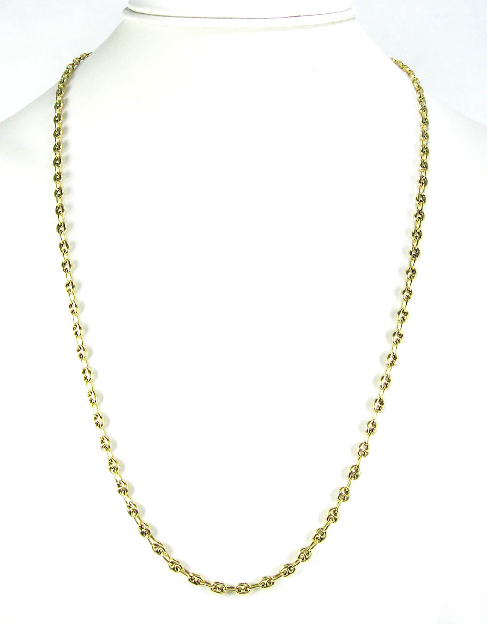 14k yellow gold gucci link chain 20-24 inch 4.10mm