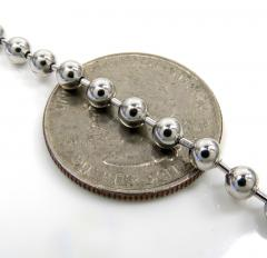 14k white gold smooth ball link chain 20-30 inch 4mm