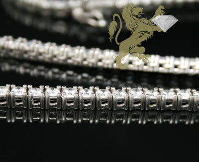 34.60ct 14k white gold round 20 pointer diamond tennis link chain 30