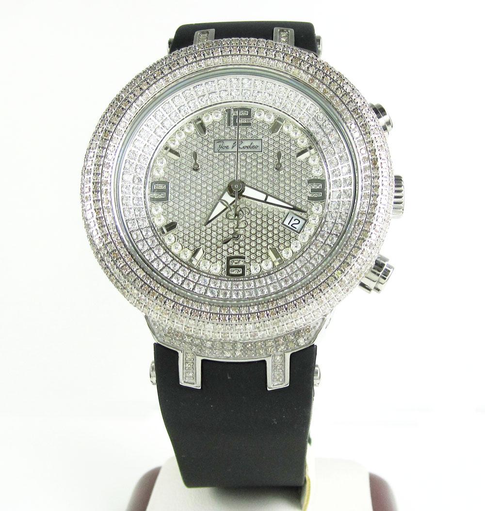 Joe rodeo master white iced out diamond watch jjm68 6.50ct