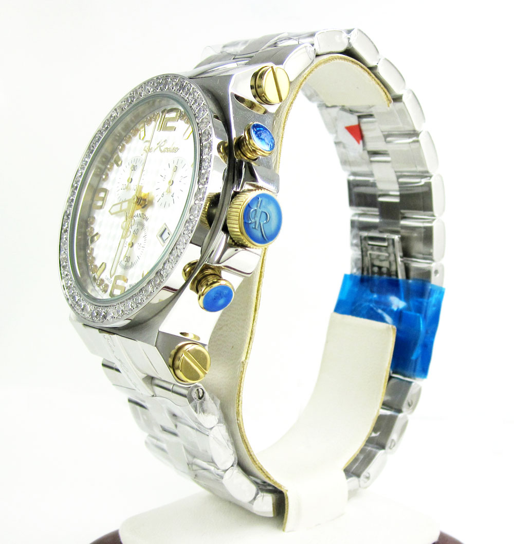 Joe rodeo phantom iced out diamond watch jtpm40 3.25ct
