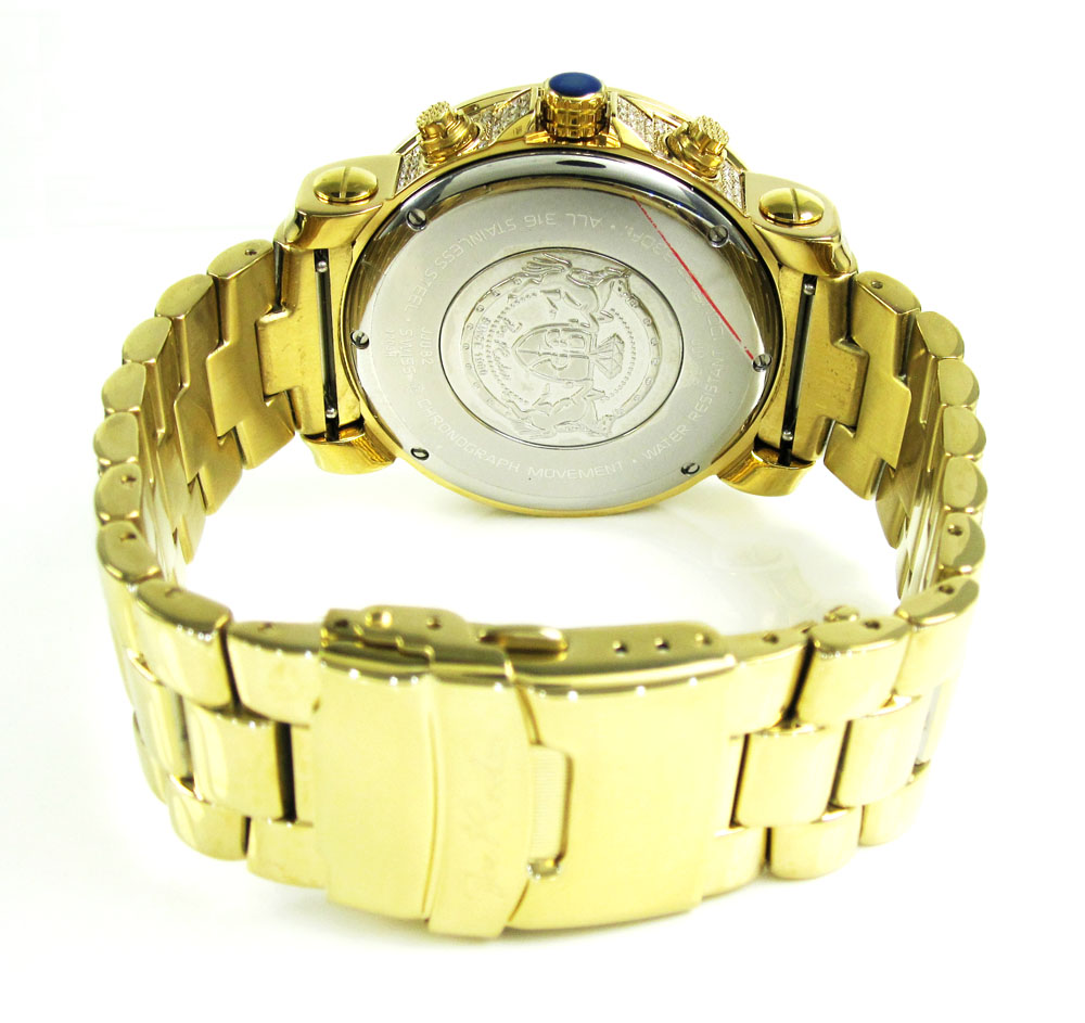 Joe rodeo junior fully iced out yellow watch jju82 17.25ct