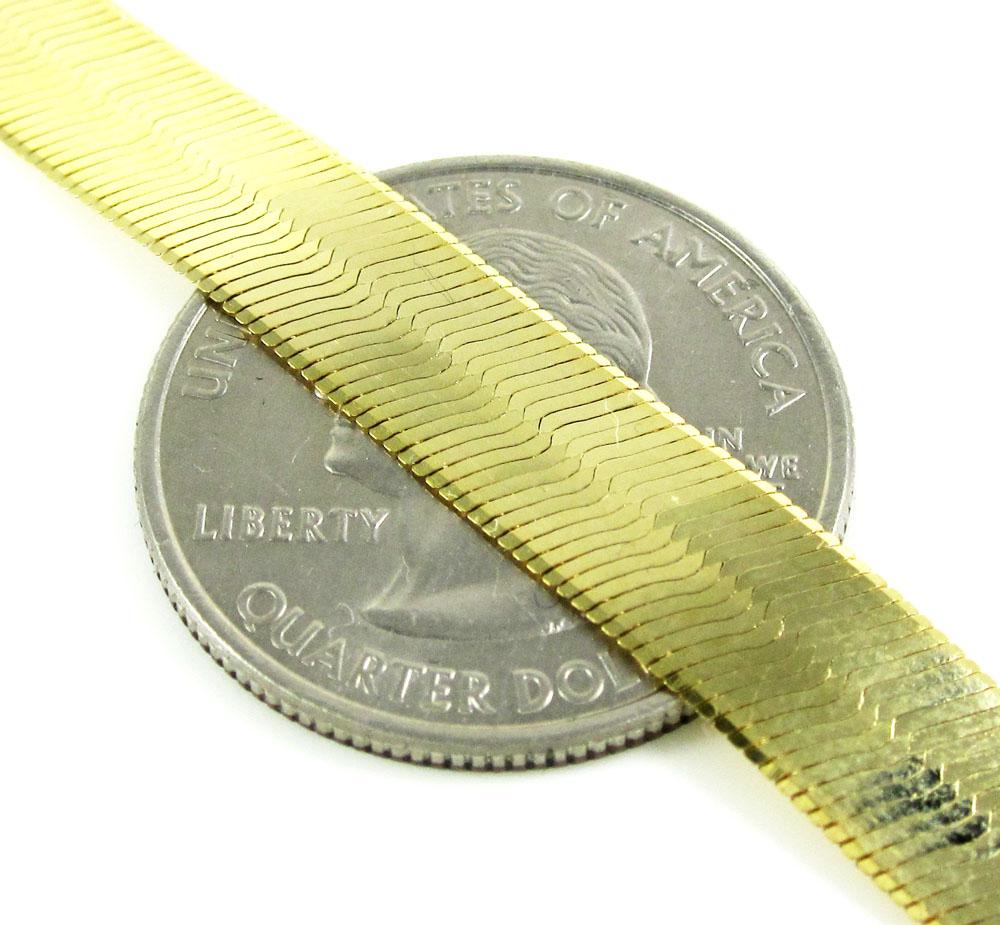 10k yellow gold herringbone chain 22-24 inch 8.80mm