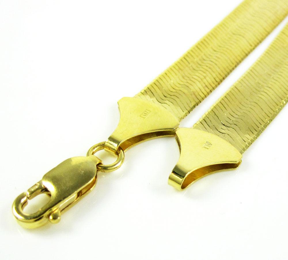 10k yellow gold herringbone chain 20-24 inch 5mm