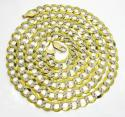 10k yellow gold diamond cut cuban chain 20-30 inch 8.5mm