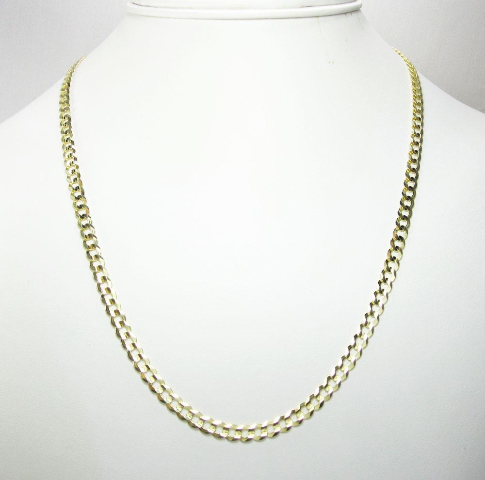 10k yellow gold cuban chain 18-30 inch 4.5mm