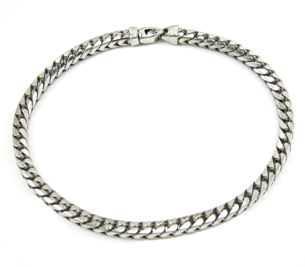 10k white gold franco bracelet 9 inch 4.5mm