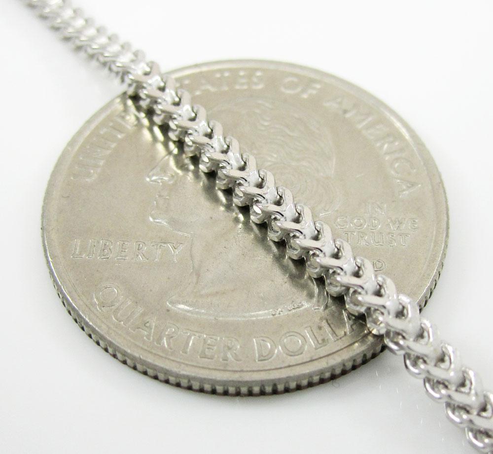 10k white gold franco chain 18-36 inch 2.2mm