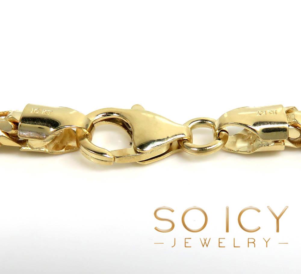 10k yellow gold solid franco bracelet 8.75 inch 3.70mm