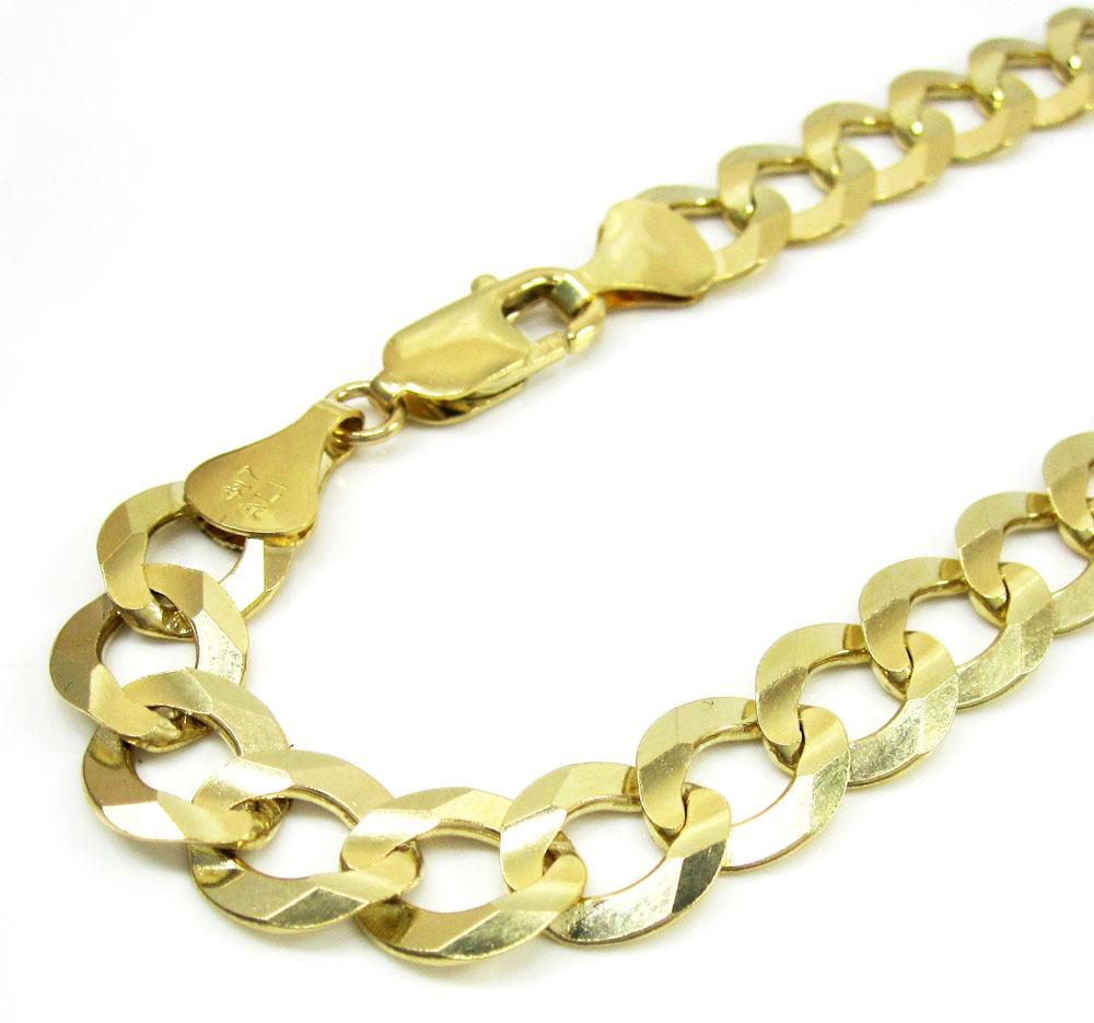 10k yellow gold cuban bracelet 9.25 inch 9.85mm