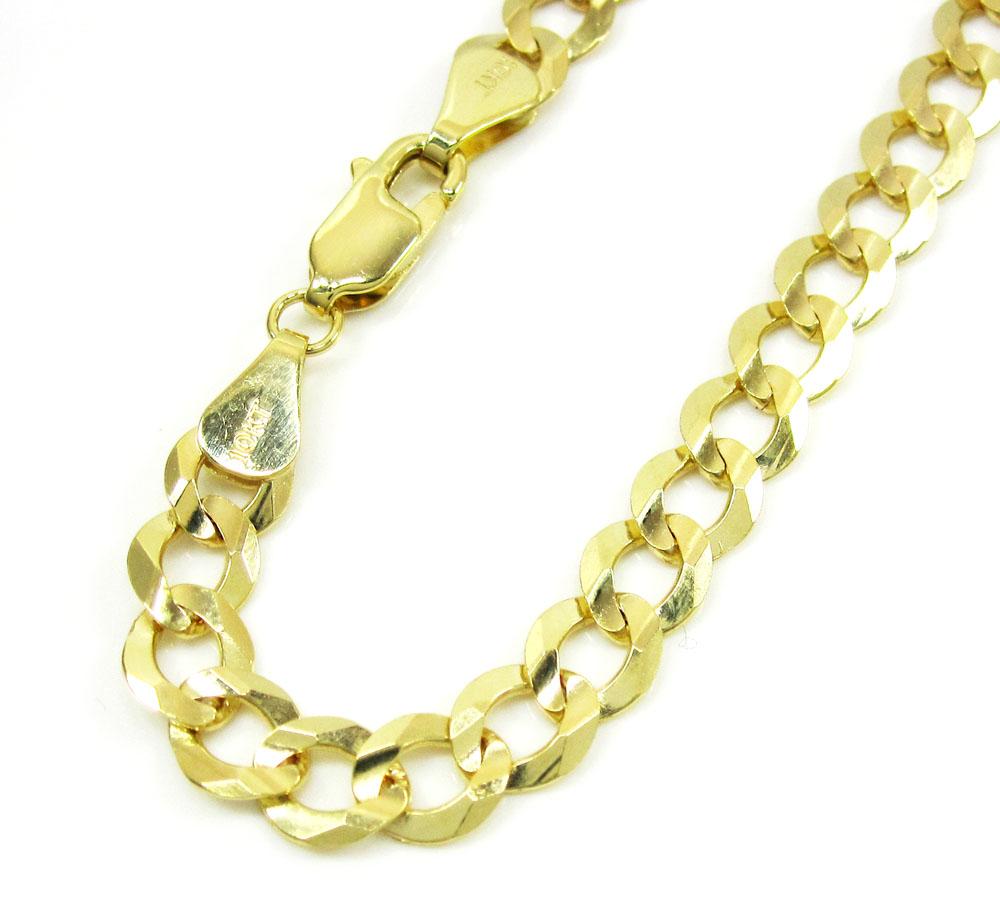 10k yellow gold solid cuban bracelet 8.50 inch 5.75mm