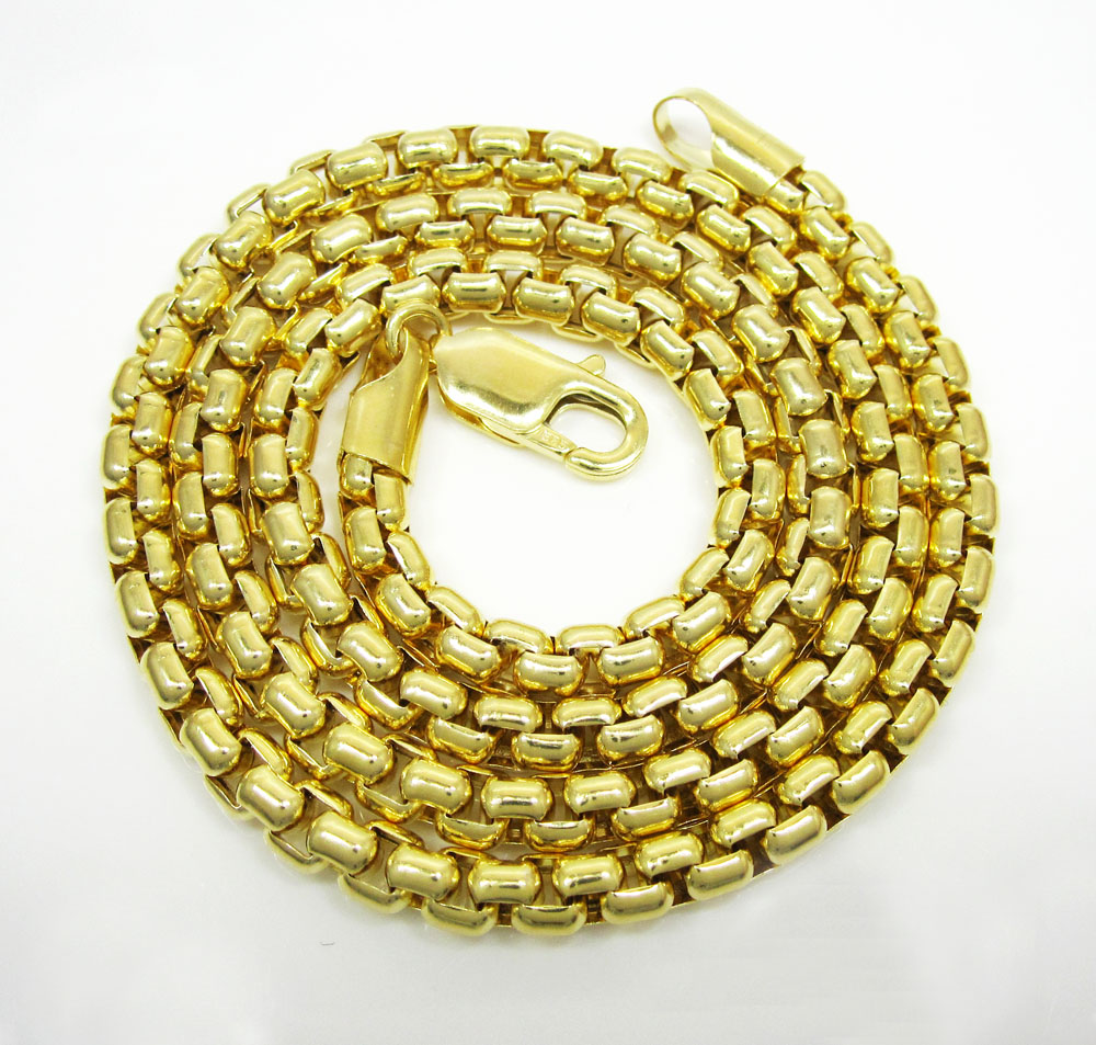 14k yellow gold italian box chain 20-30 inch 5mm