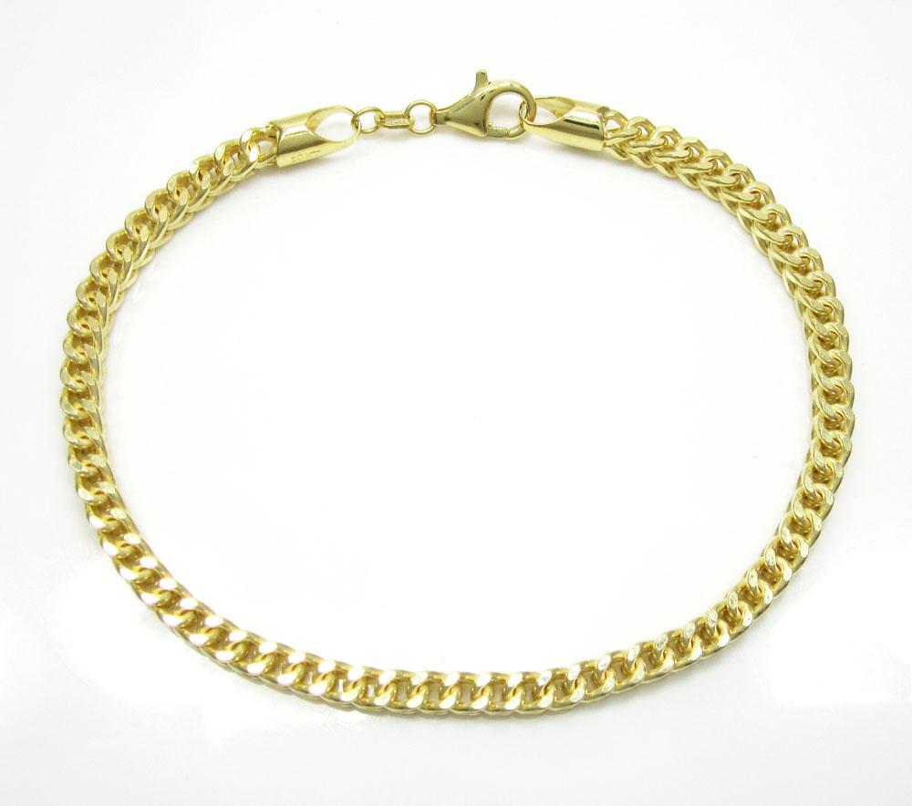 10k yellow gold franco link bracelet 8.50 inch 3.7mm