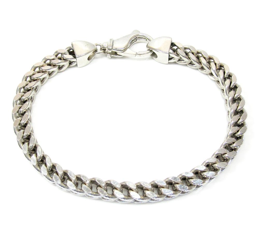 10k white gold franco bracelet 8.25 inch 6.5mm