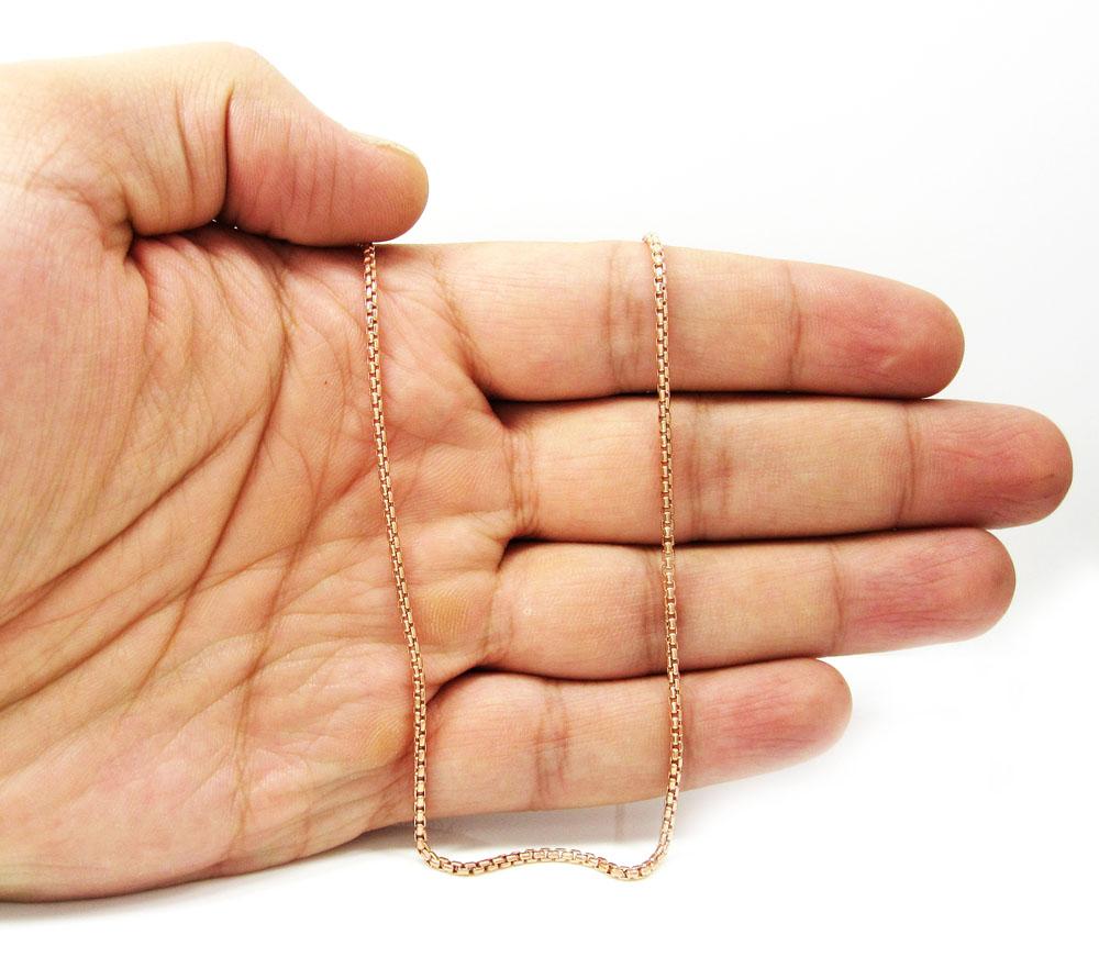 18 Inches Long 14Kt Gold 1.8Mm Round Box Chain Round Box Chain