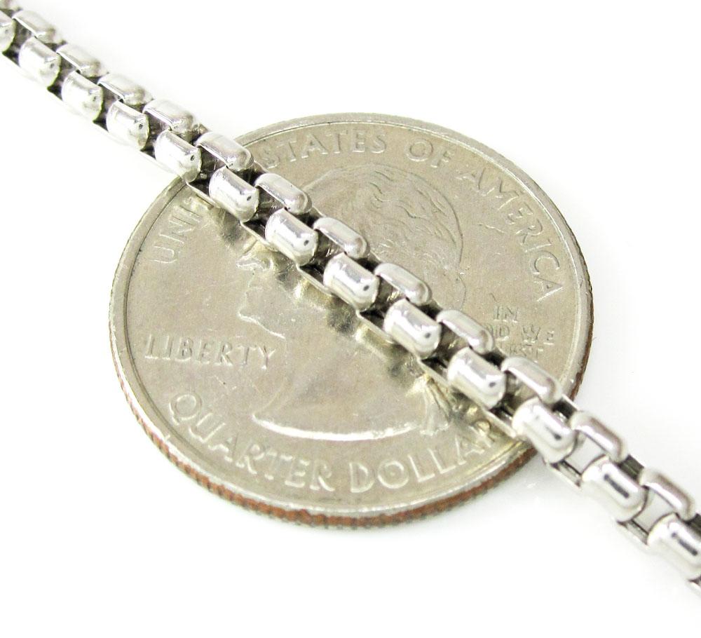14k white gold box link chain 16-30 inch 3.5mm