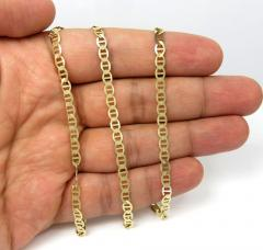 10k yellow gold solid mariner link chain 22-24 inch 4.3mm