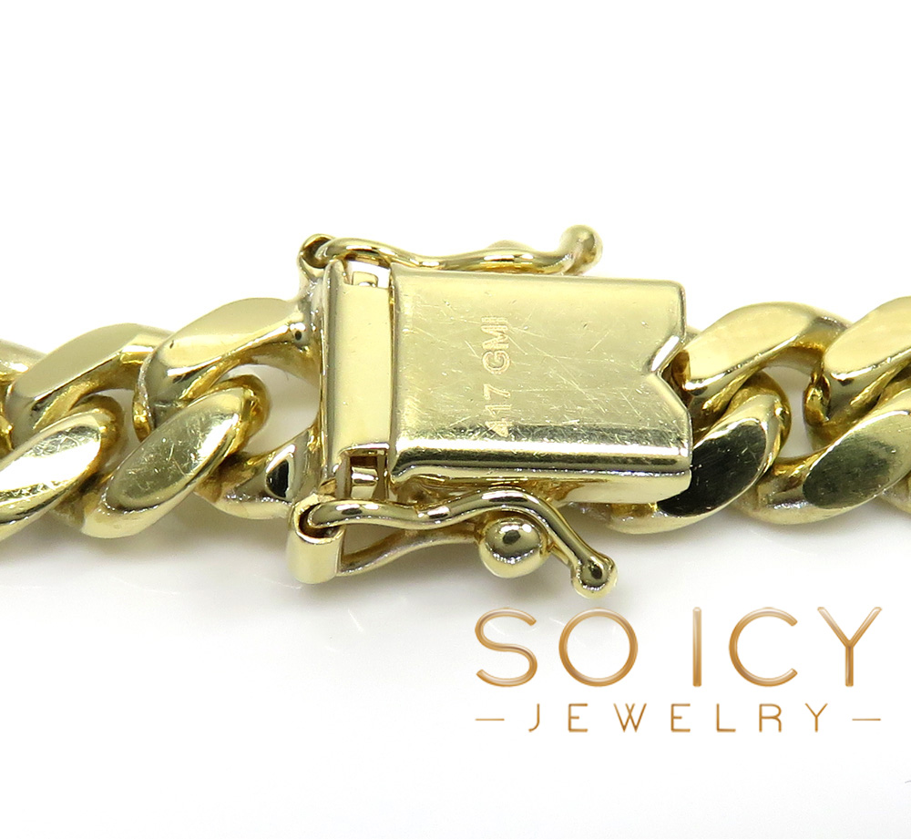 10k yellow gold thick miami chain 22