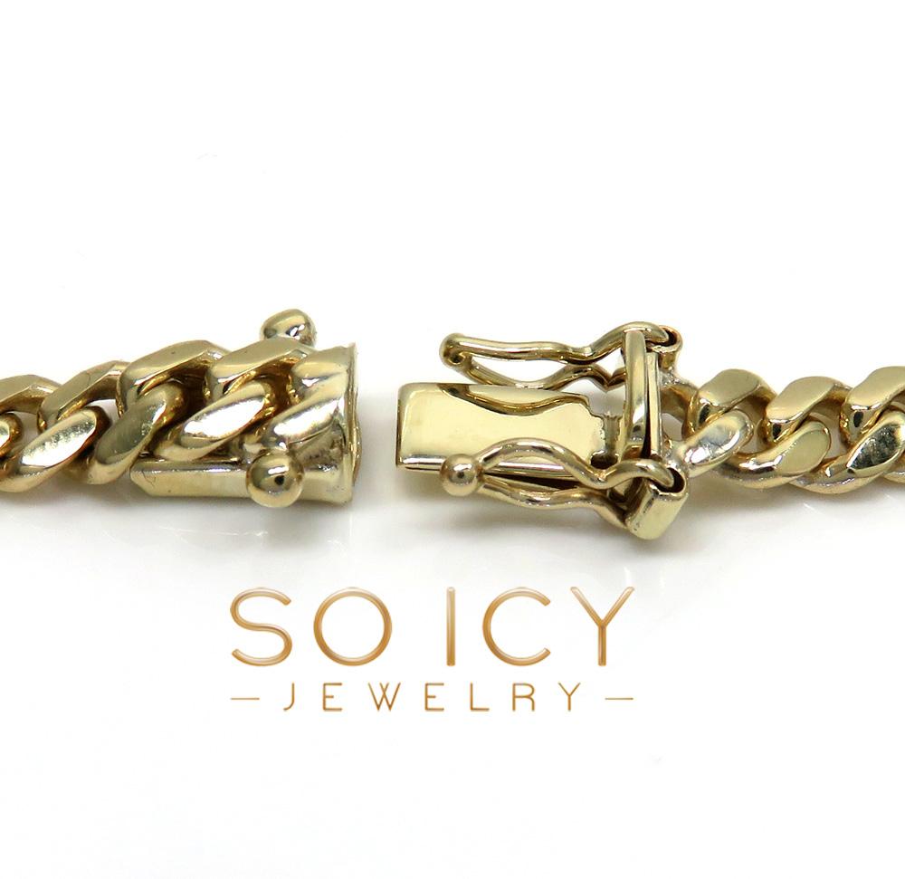 10k yellow gold miami chain 20-30 inch 5.2mm