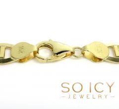 10k yellow gold solid mariner bracelet 8.50 inch 7.5mm