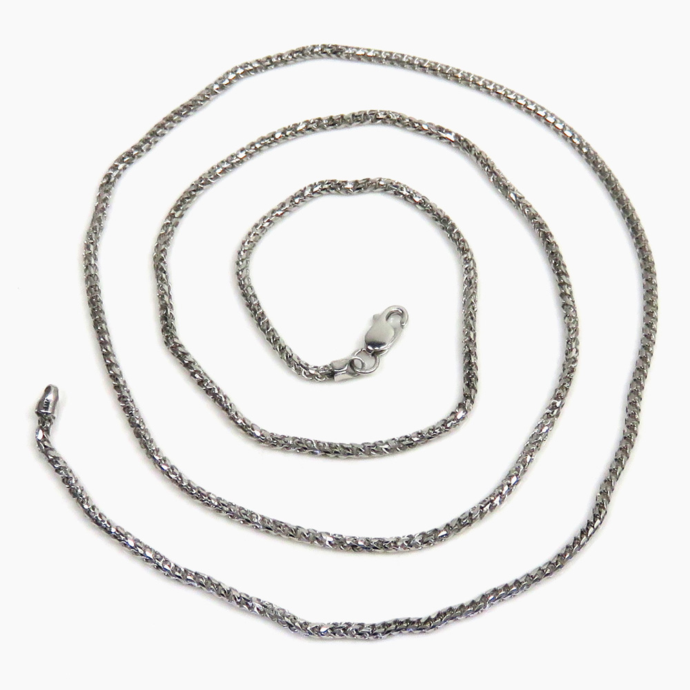 10k white gold solid franco link chain 18-24 inch 1.7mm