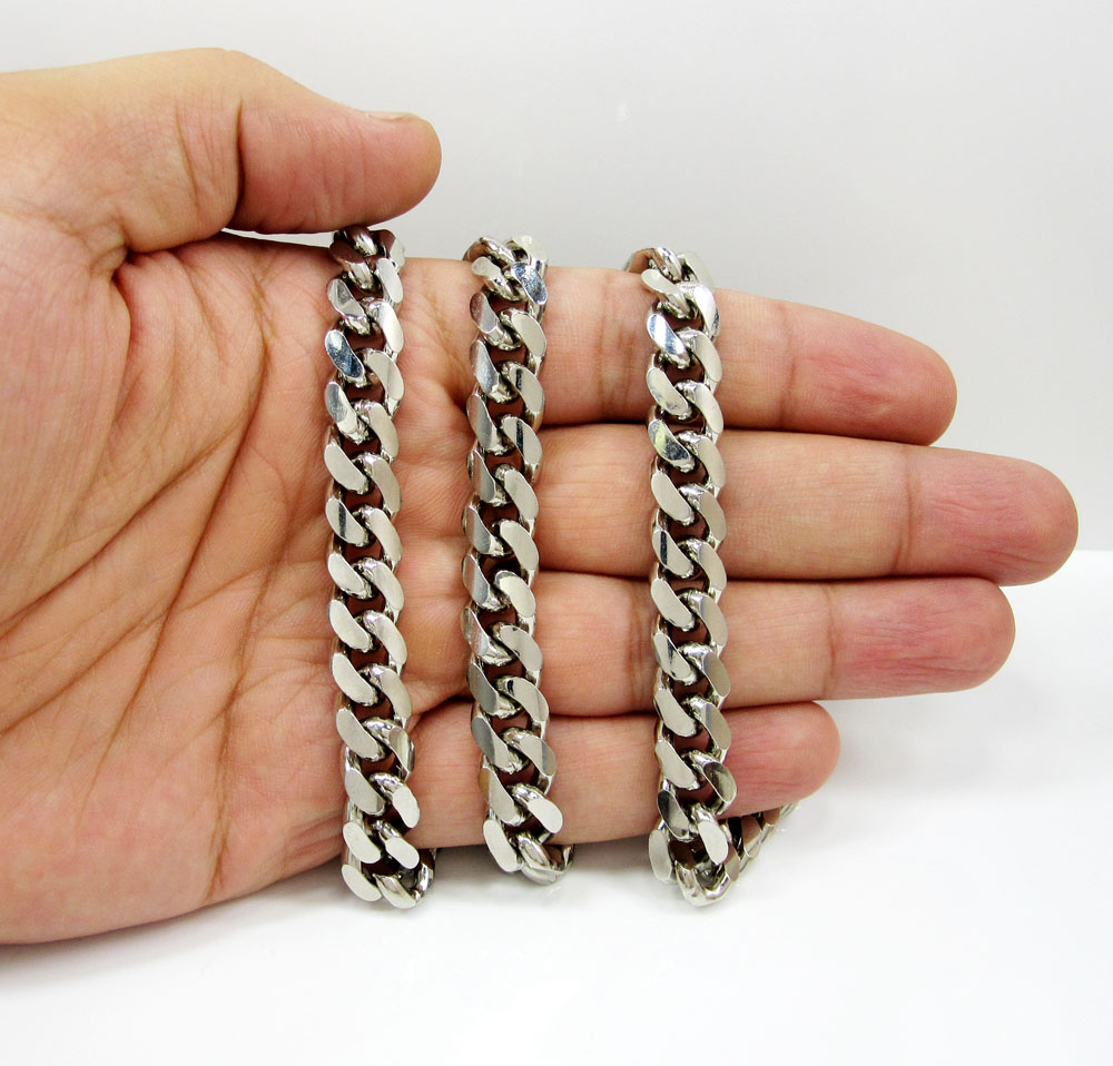 925 sterling silver miami link chain 30 inch 10.5mm