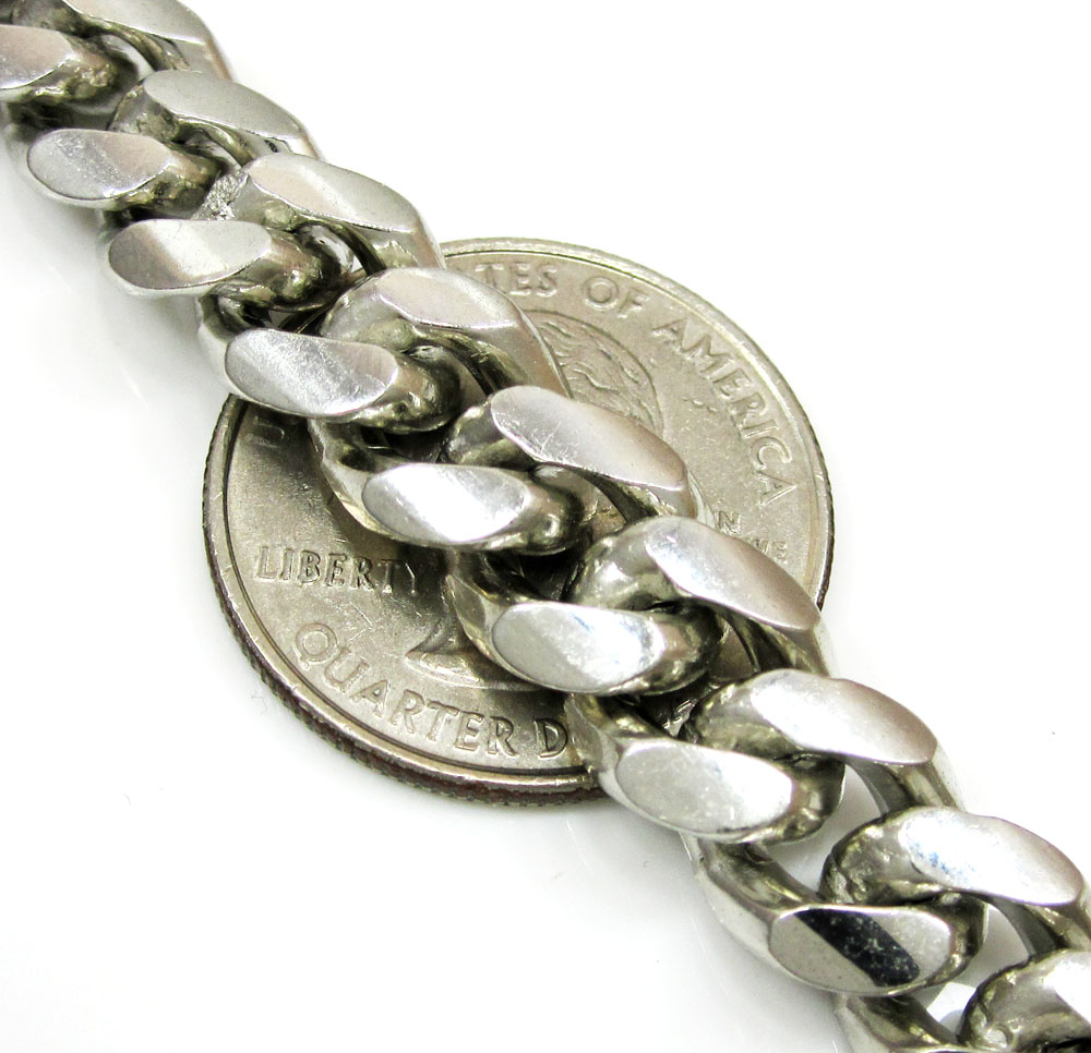 925 sterling silver miami link chain 32 inch 10.2mm