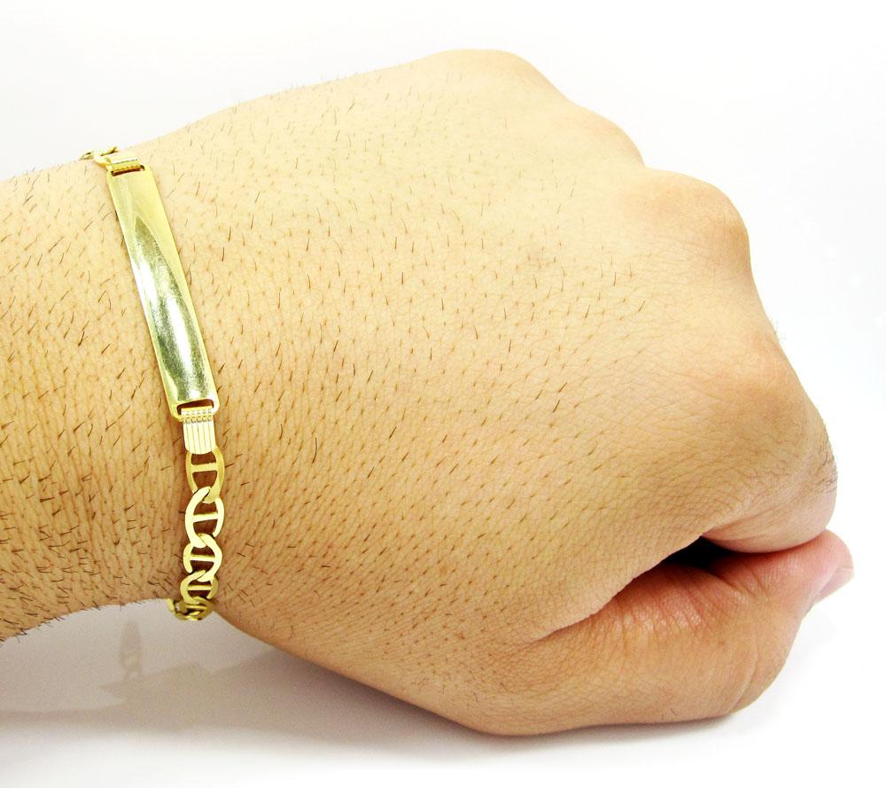 10k yellow gold mariner id bracelet 8 inch 5.2mm