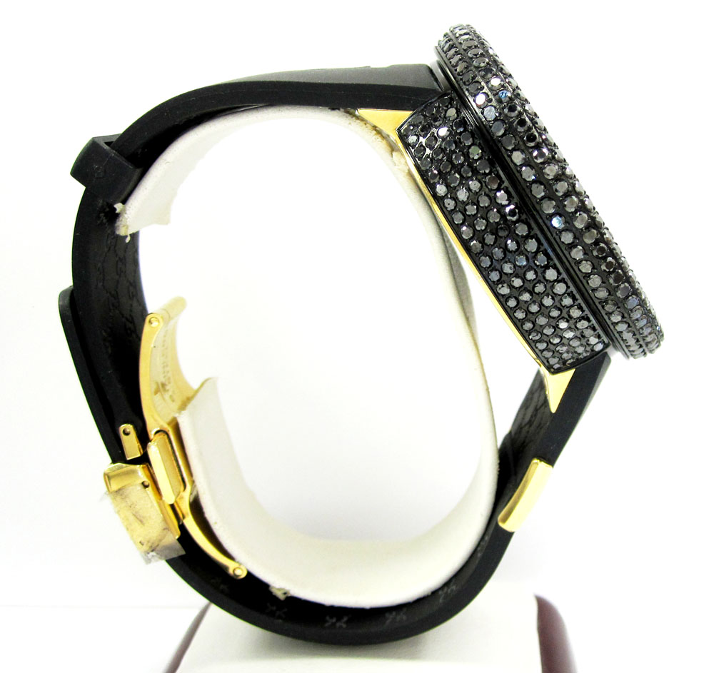 Mens diamond igucci digital full case big bezel grammy edition watch 11.00ct