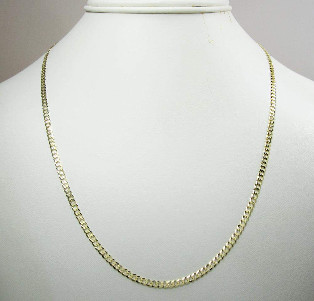 10k yellow gold cuban chain 16-30 inch 3mm