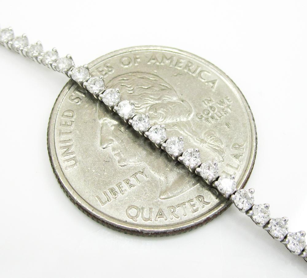 Ladies 18k white gold tear drop diamond necklace 3.00ct