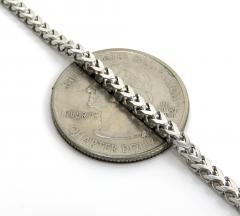 14k solid white gold franco chain 26-30 inch 2.5mm