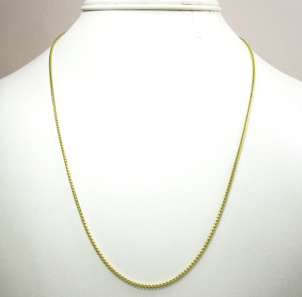 14k solid yellow gold franco chain 20-24 inch 1.5mm
