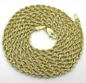 10K Yellow Gold Smooth Cut Link Rope Chain 16-30 Inch 2mm