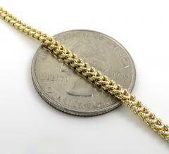 Mens 10k yellow gold diamond cut franco chain 18-26 inch 2.2mm