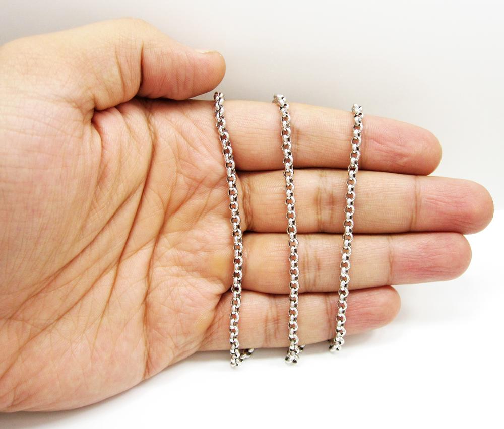 Rollo Chain 20 Inches Long 14Kt Gold Hallow Rollo Chain