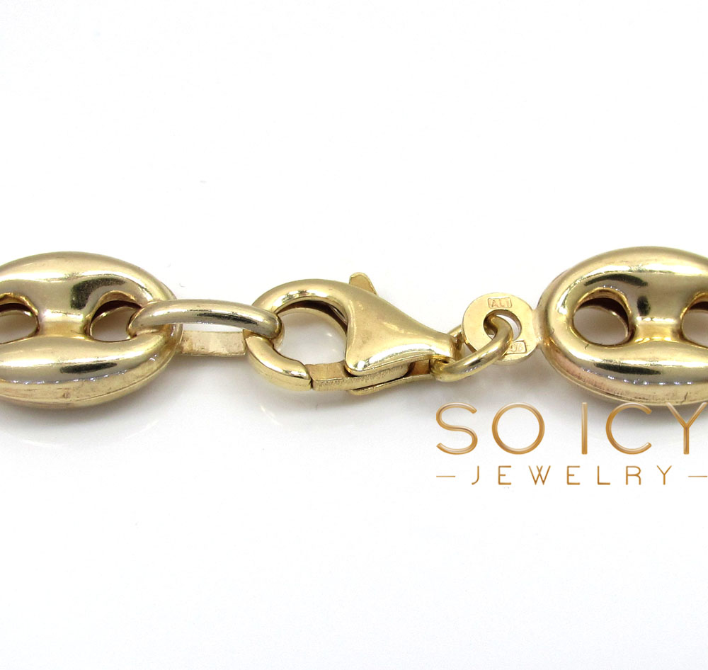 10k yellow gold gucci link bracelet 8.75 inch 9.50mm