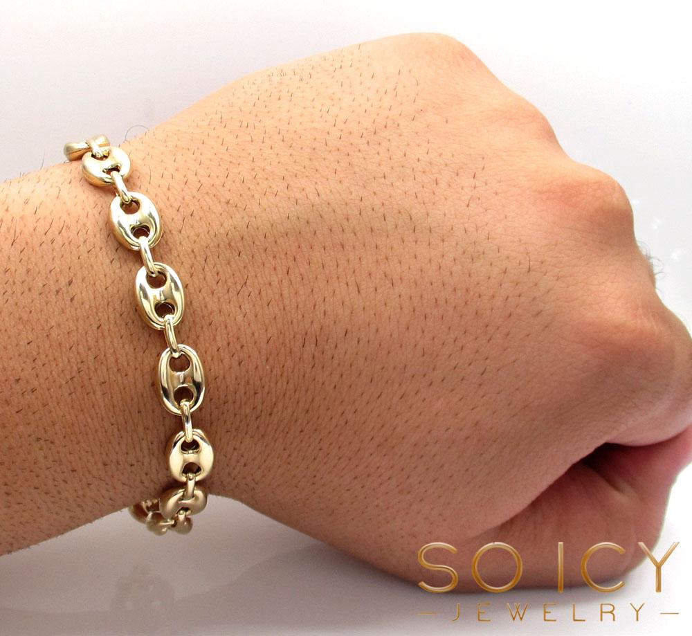 10k Yellow Gold Gucci Link Bracelet 8 75 Inch 9 50mm