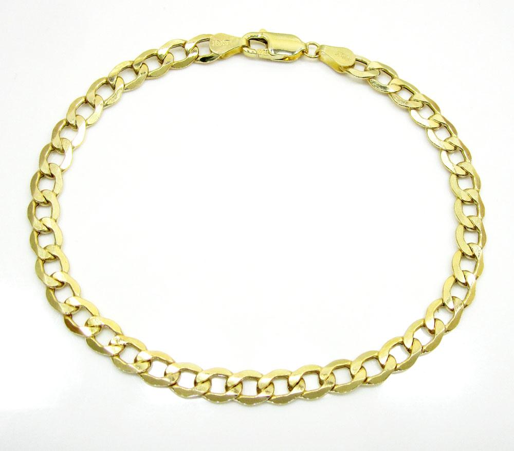 10k yellow gold cuban bracelet 8 inch 5.5mm