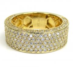 18k gold five diamond row wedding band ring 2.45ct