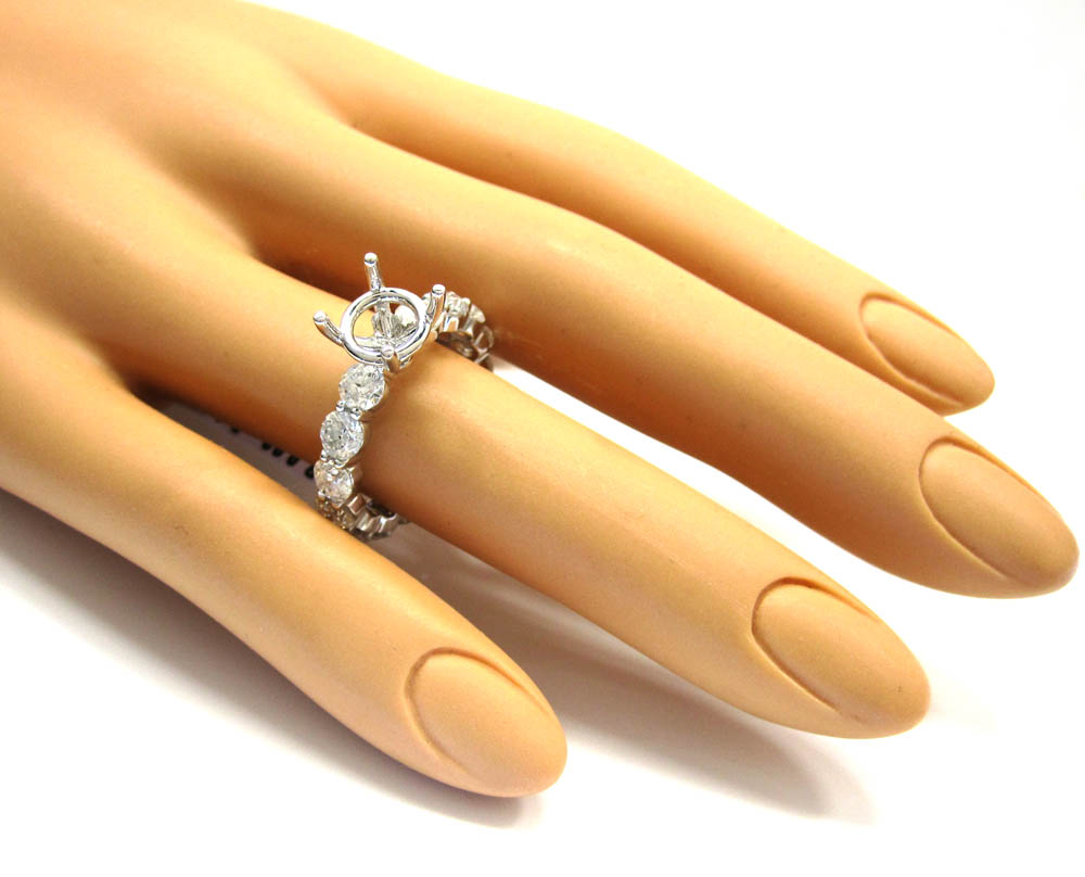 18k gold diamond eternity engagement ring 3.72ct