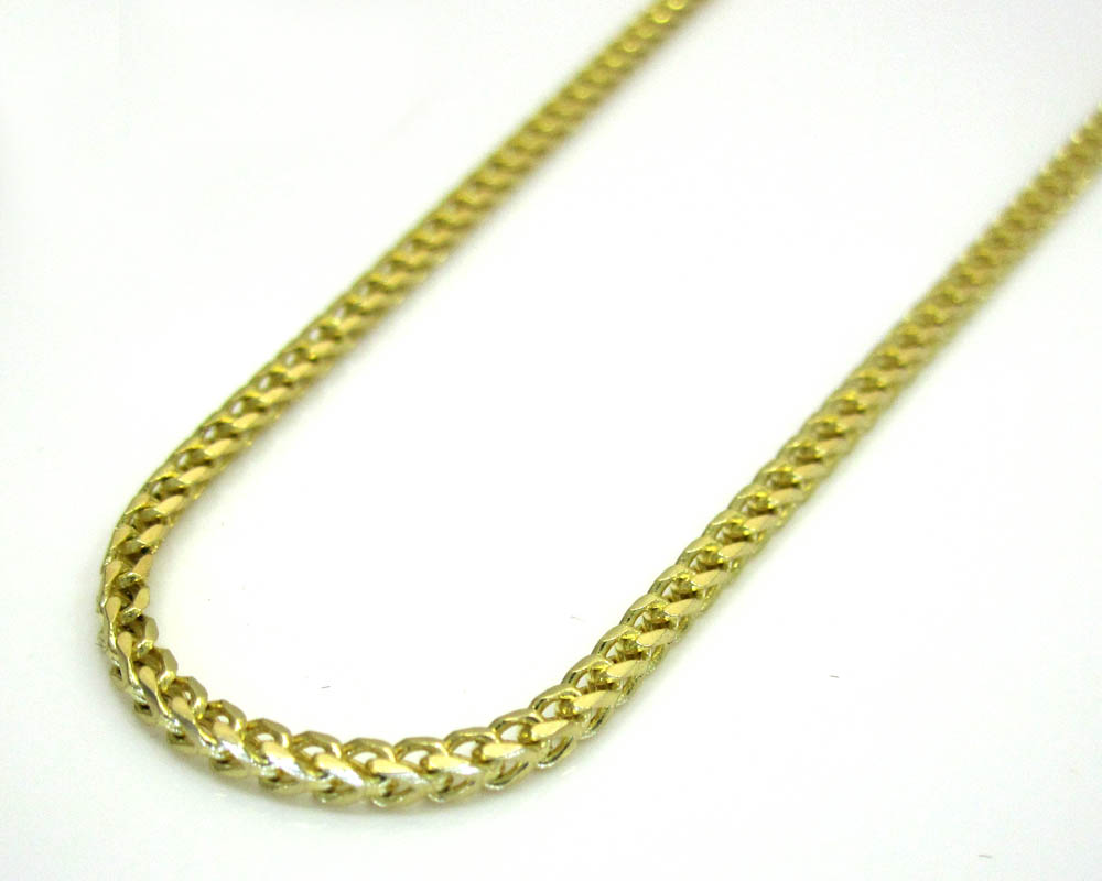 14k solid yellow gold franco chain 24 inch 1.5mm