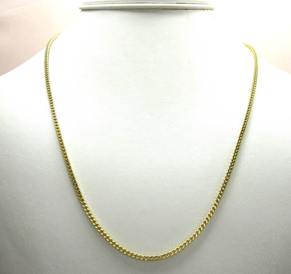 10k yellow gold franco box chain 20 inch 2mm