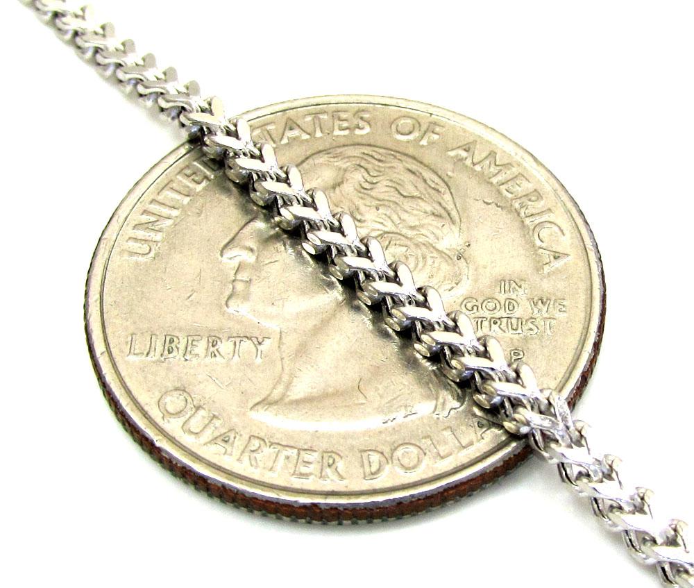 10k white gold franco box chain 18-26 inch 2mm